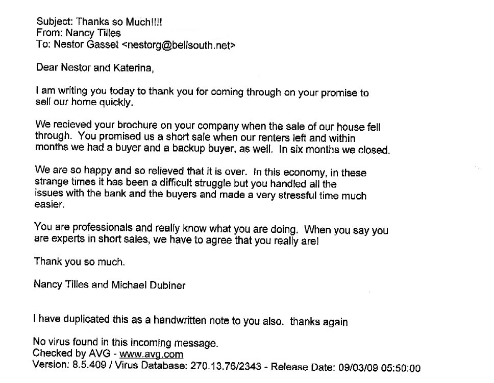 Nancy Tiles and Michael Dubiner Testimonial